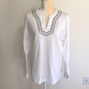 Cubavera Embroidered Cotton Tunic